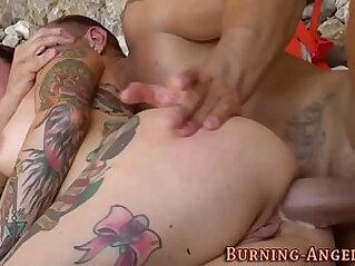 Fetish slut gets anal creampie