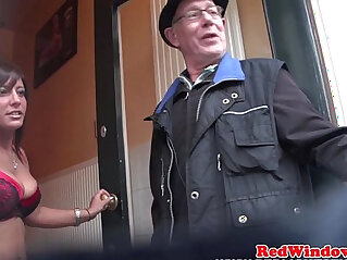 Busty euro escort pussyfucked after bj