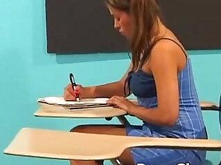 Schoolgirl fucked in the classroom