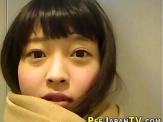 Cute teen pees