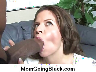 Watching my mom go black Big black monster cock in tight wet pussy