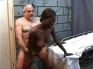 Old Perverted Grandpa Fucks Black Teen school Girl