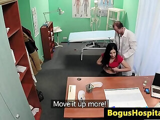 Hospital patient pussyfucked by her doctor