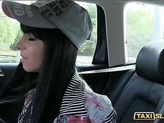 Cute asian chick Jessika received a cum facial by this pervert driver