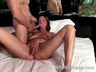 Brunette fucking big muscle