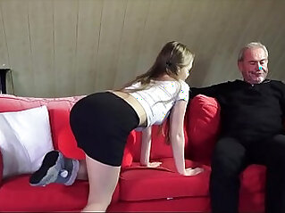 Old Young Porn Little Girl hard Fucked By Bald Grandpa in her wet perfect pussy
