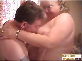 Plump granny loves to ride