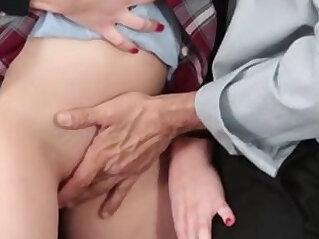 Schoolgirl caught with no panties HD