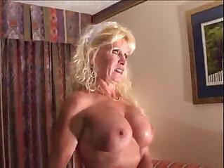 Busty Blonde Bitch in Interracial Scene