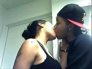 Hot white girlfriend kissing and doing romance with her black boyfriend
