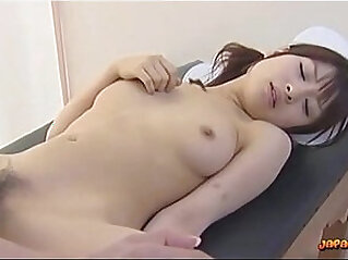 Nurses Fucking With Strapon And Doubledildo Kissing On The Bed In The Hospital