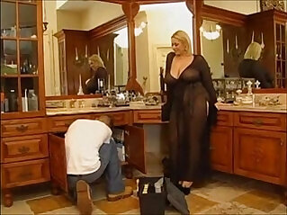 Horny bbw blonde gets nailed by a young guy