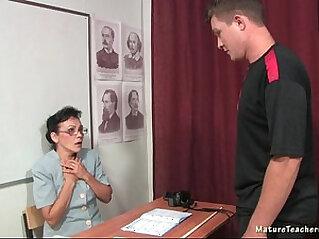 Russian mature teacher Kayla history lesson