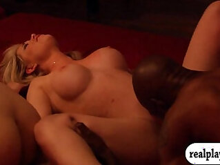 Horny swingers swap partner and fucking in Playboy mansion