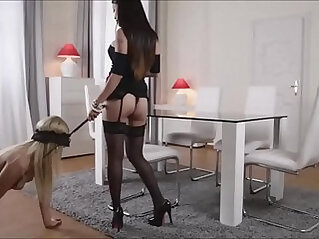 Hot Asian Fucks Blonde Slave With Strap