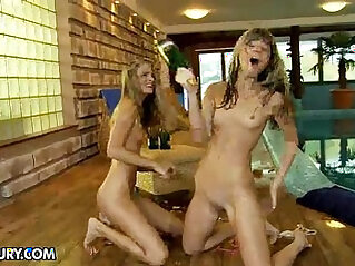 Nudefightclub presents champagne showers