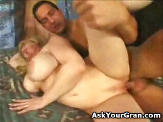 big breatsed granny gets her old pussy licked and fucked till I spermed her twat