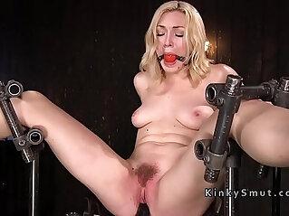 Anal blonde sub pussy toyed