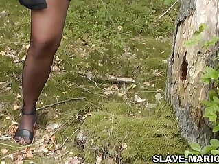 Hot slutwife Marion getting pissed on by plenty of strangers