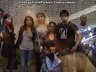 student party with the sea of champagne, orgasm and cumshots