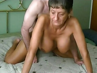Amazing busty granny fucked and creampied infront of cam. More