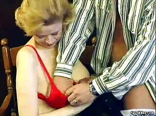 Granny with saggy tits and hairy pussy gets fucked